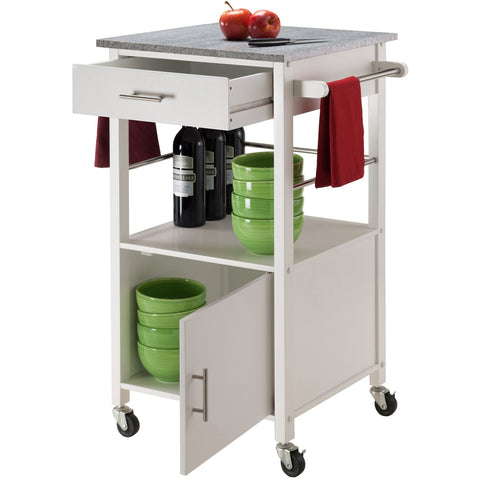 Winsome Davenport Portable Kitchen Cart with Granite Top -  - 3