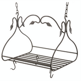 Stone County Ironworks Gourmet Hand Forged Iron Pot Rack w/ Free Hooks -  - 1