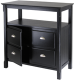 Winsome Timber Buffet Table with 2 Doors - Black -  - 2