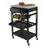 Winsome Julia Portable Utility Kitchen Cart with Basket & Granite Top -  - 2