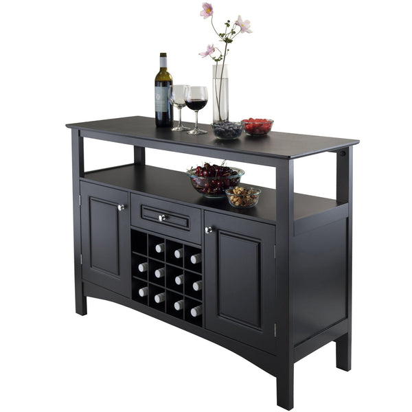 Winsome Jasper Storage Buffet - Black -  - 1