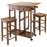 Winsome Portable Space Saver Kitchen Cart with Dropleaf -FREE 2 Stools -  - 3