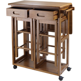 Winsome Portable Space Saver Kitchen Cart with Dropleaf -FREE 2 Stools -  - 2