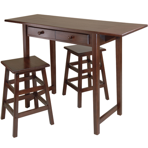 Winsome Mercer Double Drop Leaf Kitchen Island With Free