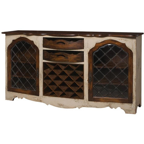 The Elk Group Internation Guildmaster Credenza With Wine Storage #600027 Credenza