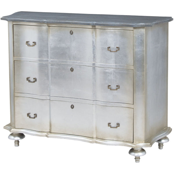The Elk Group Internation Guildmaster Petite Duchess Chest In Antique Silver Leaf And Smoke #6415505 Chest