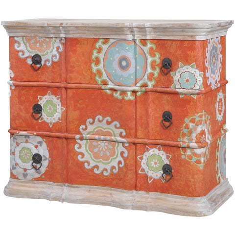 The Elk Group Internation Guildmaster Harmony Chest In Mottled Tangerine #6415506 Chest