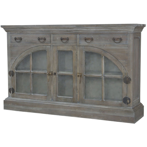 The Elk Group Internation Guildmaster Farmhouse China Credenza In Waterfront Grey Stain And White Wash #6415507 Credenza
