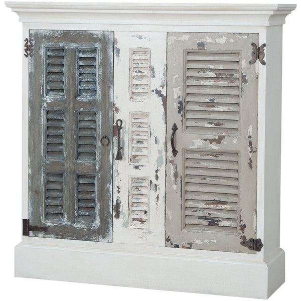 The Elk Group Internation Guildmaster Waterfront Hall Cabinet In Garden Lattice White #6415517 Cabinet