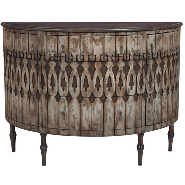 The Elk Group Internation Guildmaster Artifacts Demilune Sideboard #643505 Sideboard