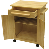 Winsome Kitchen Cart with Drawer and Cabinets -  - 2
