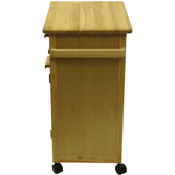 Winsome Kitchen Cart with Drawer and Cabinets -  - 3