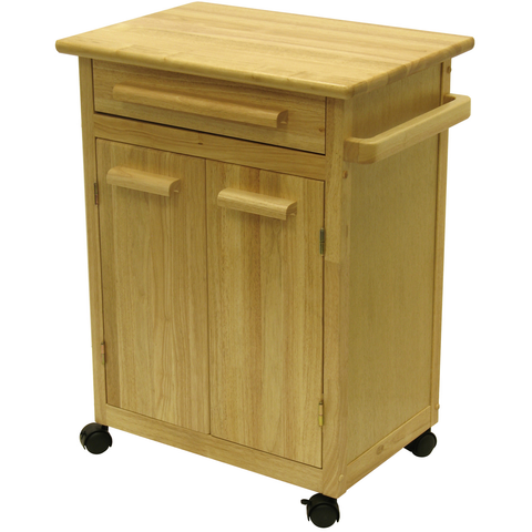Winsome Kitchen Cart with Drawer and Cabinets -  - 1
