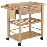 Winsome Finland Portable Kitchen Cart with Wine Rack -  - 6