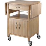 Winsome Kitchen Cart Double Drop Leaf Cabinet with Shelf -  - 1