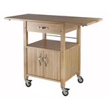 Winsome Kitchen Cart Double Drop Leaf Cabinet with Shelf -  - 3