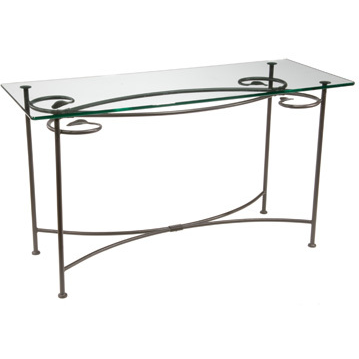 Stone County Ironworks Leaf Sideboard Console Table - Glass Top -  - 1