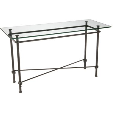 Stone County Ironworks Ranch Sideboard Console Table - Glass Top -  - 1