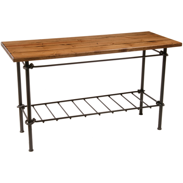 Stone County Ironworks Knot Iron Sideboard Table - Distressed Pine Top -