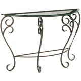 Stone County Ironworks Stratford Iron Sideboard Table - Glass Top -  - 1