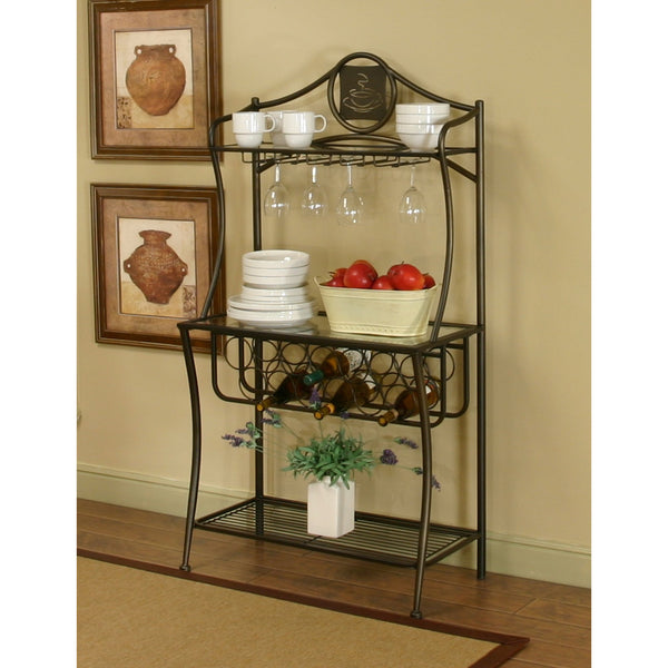 Sunset Trading Cappuccino Bakers Rack