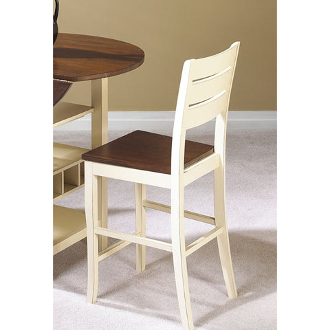 "Sunset Trading CR-A7007-24-RTA Sunset Dining 24"" Cascade Stool in Two Tone Cream and Light Espresso - Set of 2"