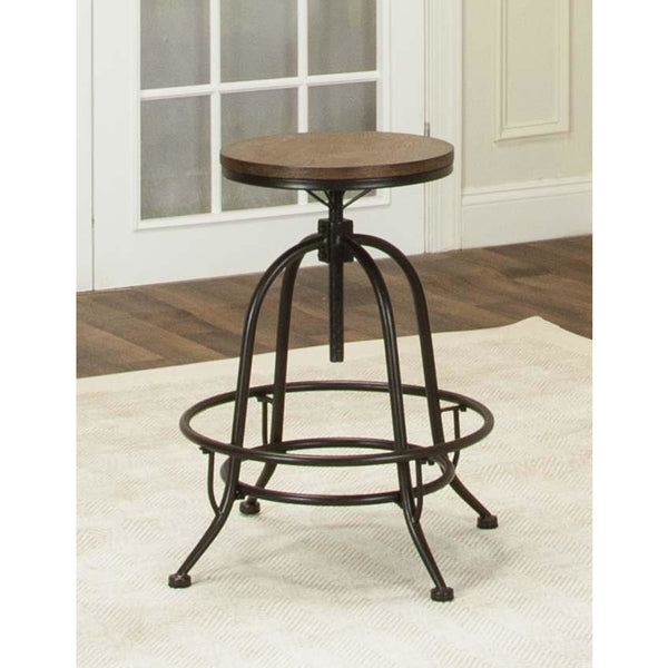 Sunset Trading Rustic Elm Industrial Deluxe Swivel Barstool (Set of 2)