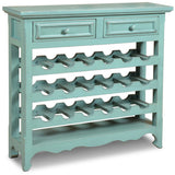 Sunset Trading Veracruz 18 Bottle Wine Rack with Drawers