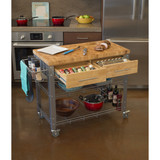 Chris & Chris Stadium Kitchen Island with Wood Top -  - 2