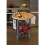 Chris & Chris Pro Stadium Kitchen Cart with Round Wood Top -  - 2