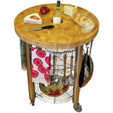 Chris & Chris Pro Stadium Kitchen Cart with Round Wood Top -  - 5