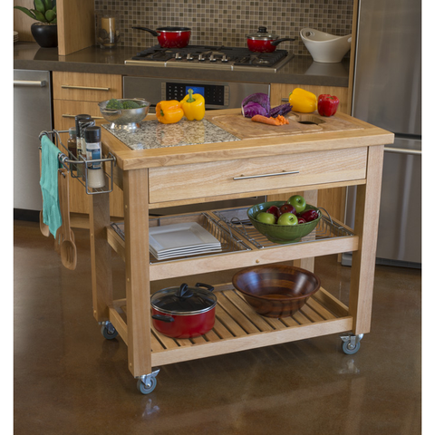 Chris & Chris Pro Chef Kitchen Island Food Prep Station - Natural - 1