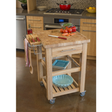Chris & Chris Pro Chef Kitchen Cart Work Station - Natural - 1