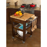 Chris & Chris Pro Chef Kitchen Cart Work Station - Espresso - 10