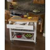 Chris & Chris Pro Chef Kitchen Island Prep Station - White -  - 2