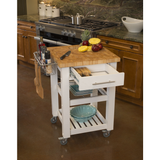Chris & Chris Pro Chef Kitchen Cart Work Station - White -  - 2