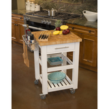 Chris & Chris Pro Chef Kitchen Cart Work Station - White -  - 1