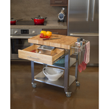 Chris & Chris Pro Stadium Kitchen Island Cart with Butcher Block -  - 2