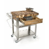 Chris & Chris Pro Stadium Kitchen Island Cart with Butcher Block -  - 10