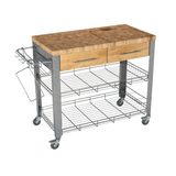 Chris & Chris Stadium Kitchen Island with Wood Top -  - 3