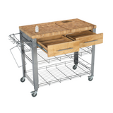 Chris & Chris Stadium Kitchen Island with Wood Top -  - 4