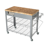 Chris & Chris Stadium Kitchen Island with Wood Top -  - 5