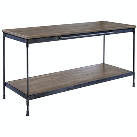Stone County Ironworks Cardiff Buffet Table, Distressed Pine Shelf -  - 1