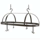Stone County Ironworks Dutch Oval Hand Forged Iron Pot Rack Free Hooks - Large - 3