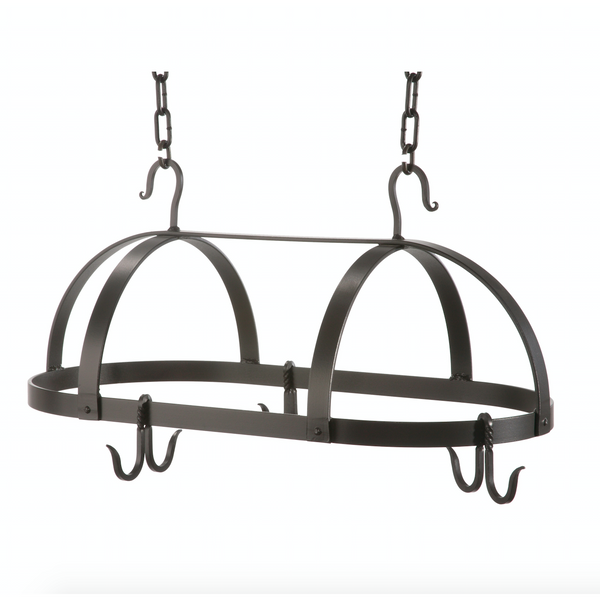 Stone County Ironworks Dutch Oval Hand Forged Iron Pot Rack Free Hooks - Small - 2
