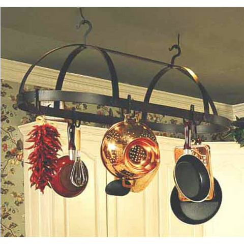 Stone County Ironworks Dutch Oval Hand Forged Iron Pot Rack Free Hooks -  - 1