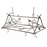 Stone County Ironworks Rustic Pine Hand Forged Iron Triangle Pot Rack - Large - 2