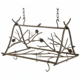 Stone County Ironworks Rustic Pine Hand Forged Iron Triangle Pot Rack - Small - 1