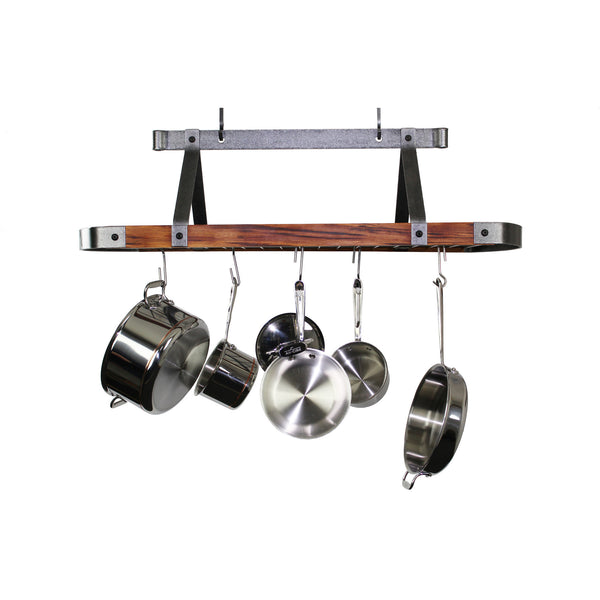 Enclume Signature Oval Ceiling Rack with FSC Certified Tiger Wood -