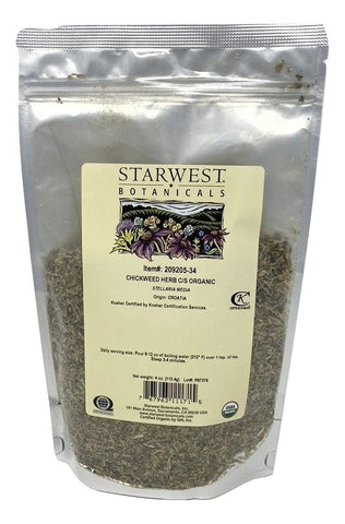 Chickweed Herb Cut & Sifted Organic - 4 Oz